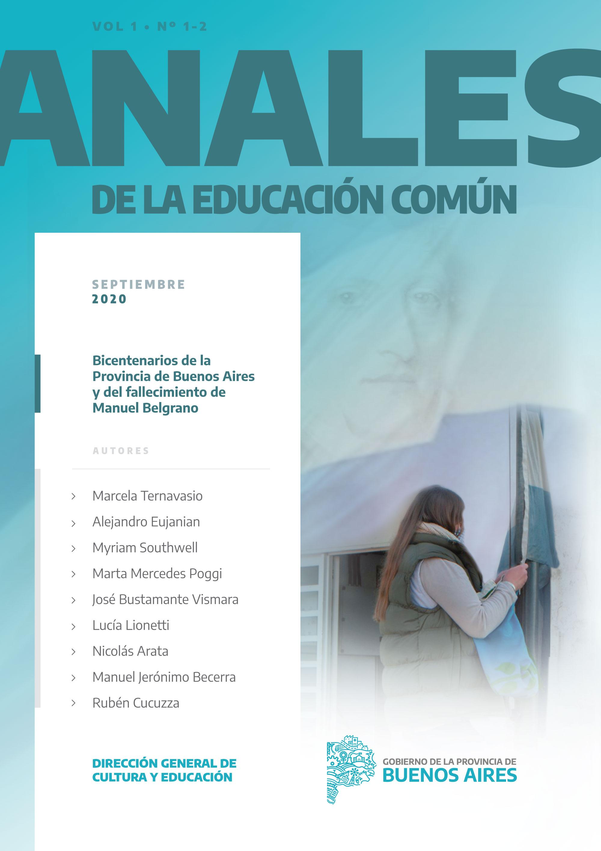 Tapa de la revista Anales de la Educación Común